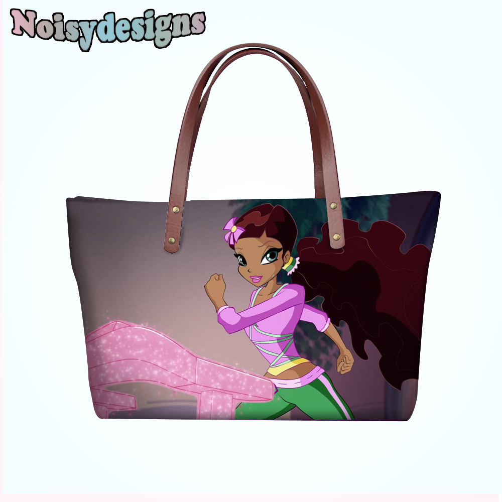 New Women Handbags 3D Winx Club Womens Cross-body Bags Cartoon Characters Prints  Tote Female Shoulder Messenger Bags Ladies e0020b722229f