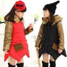 Crianças de moda outerwear 2017 Outono Inverno casacos Com Capuz Jaqueta Crianças Casaco de inverno Meninas das crianças roupas dos desenhos animados