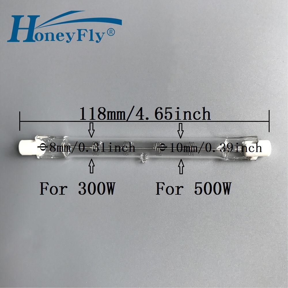 цена на HoneyFly Halogen Lamp Bulb J118 110V/220V 300W 500W Spring Coil Shock-Proof R7SDouble Ended Filament Flood Lights Quartz Tube