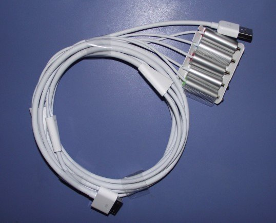 for iPad/iPhone4/3GS USB TV/AV Component 5*RCA Audio Cable