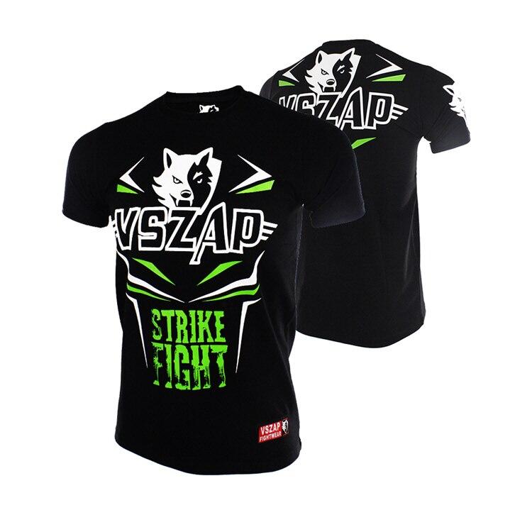 VSZAP Short Sleeve T-shirt MMA Training Martial Arts Martial Arts Thai Boxing Fight.