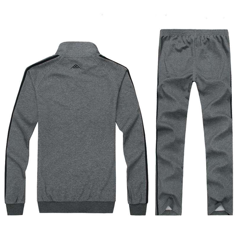 Men 4XL 5XL 6X 7XL 8XL Hoodies Suit Sportswear Set Sweatshirt and pant Warm Jogging Suits Quality Male Active Cotton Tracksuit in Running Sets from Sports Entertainment