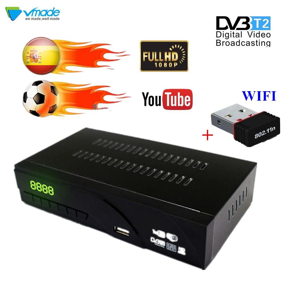 Récepteur de Signal de TV entièrement pour DVB-T numérique terrestre DVB T2 H.265 récepteur terrestre prend en charge pour Dolby AC3 avec USB WIFI