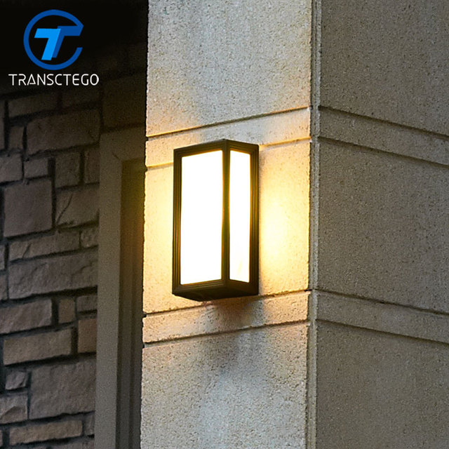 Transctego Europaischen Retro Outdoor Wand Lampe Led Wasserdichte