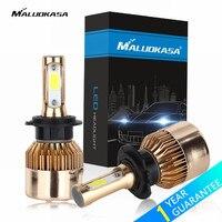 MALUOKASA 2PCs 72W H7 LED H4 Car Headlight H1 H3 H8 H9 H11 9005 HB3 9006
