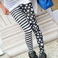 2016  Women Striped Printing Sext High Elastic Splicing Pencil Pants Female Hot Selling