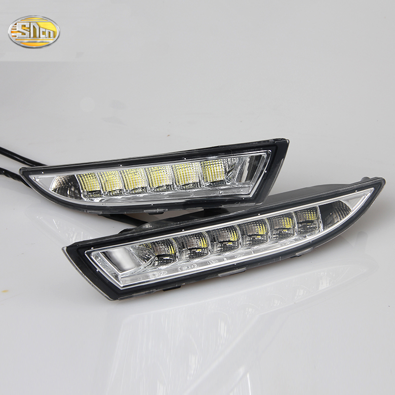 LED Daytime Running Light for VW Volkswagen Scirocco 2010 2011 2012 2013 2014 DRL with Yellow Turning Function