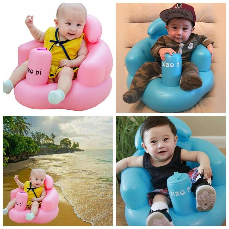 Baby Inflatable Seat Aid Swimming Pool Float Bath Stool Swim Trainer Swim Toy
