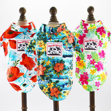 54ab43b0 Hawaiian Dog Shirt Blouse Summer Pet Dog Clothes Beach Floral T-Shirt Dogs  Polo T shirts for Small Medium Puppy Cats Cool Vest