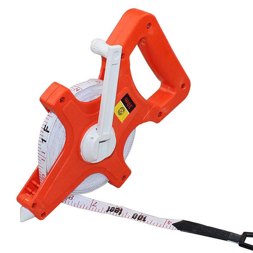 Open Reel Fiberglass Tape Measure Hand Ruler Inch Metric Scale 30M//50M//100M Tape Measure Measuring Tape