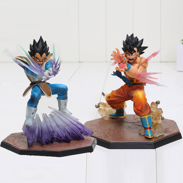 Dragon Ball Z Action Figure Vegeta Son Goku Triple Kaioken Kamehameha Battle Ver. PVC Toy