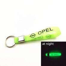 Accesorios adhesivos para coches, llavero de coche luminoso, funda para Opel Astra H G, Insignia para Corsa Astra Antara Meriva Zafira, accesorios