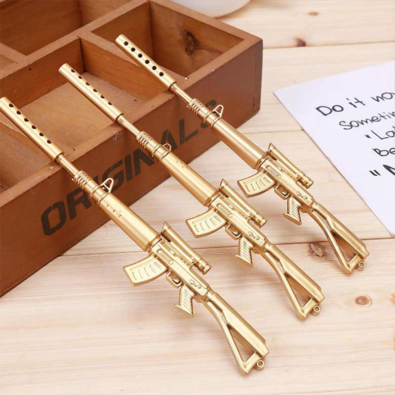 2 шт./лот креативный золотой пистолет пластиковая гелевая ручка Boeing винтовка нейтральная ручка оружие ручка для мальчиков ручка-игрушка школьные принадлежности корейские канцелярские принадлежности