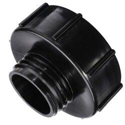 1 sztuk czarny IBC Adapter wymiana S100x8 (100mm)  aby zmniejszyć S60x6 (60mm) IBC Adapter zbiornik kran zawór wody złącza w Złącza ogrodowe do wody od Dom i ogród na