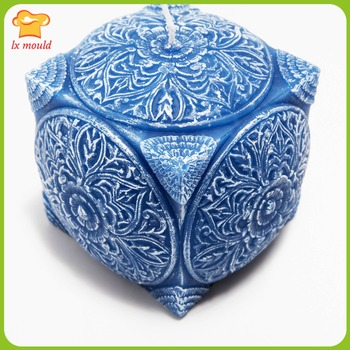 2016 new  square cylindrical candle carved embossed candle molds