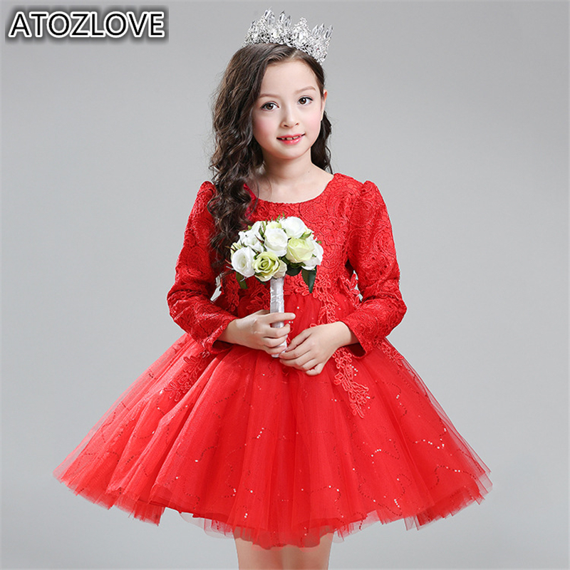 Atozlove girl christmas dresses long sleeve warm new year