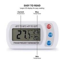ЖК-дисплей цифровой термометр крытый холодильник, морозильник Температура метр с подвесным крюком термометр Беспроводной электронный