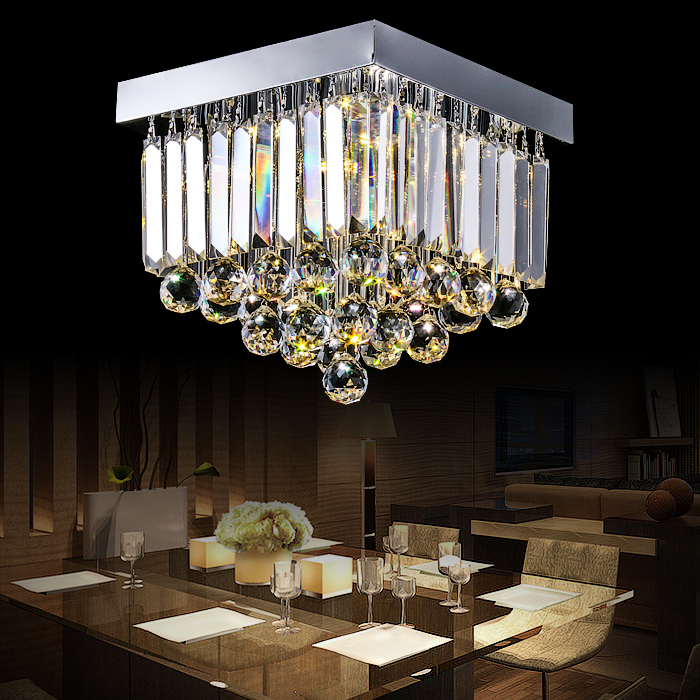 Crystal combination circular ceiling LED lamp simple rectangular hall aisle stairs Affirmative crystal balcony lamp porch SJ134