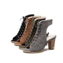 Gladiator Lace Up Sandals Womens High Heel