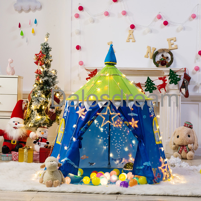Dalosdream Sea world Princess Castle Tent Large Indoor Toy Game House Play Teepee Tent Ball Pool & Dalosdream Sea world Princess Castle Tent Large Indoor Toy Game ...