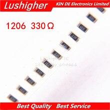 100PCS 1206 SMD Resistor 5% 330 Ohm 330ohm 331 330R