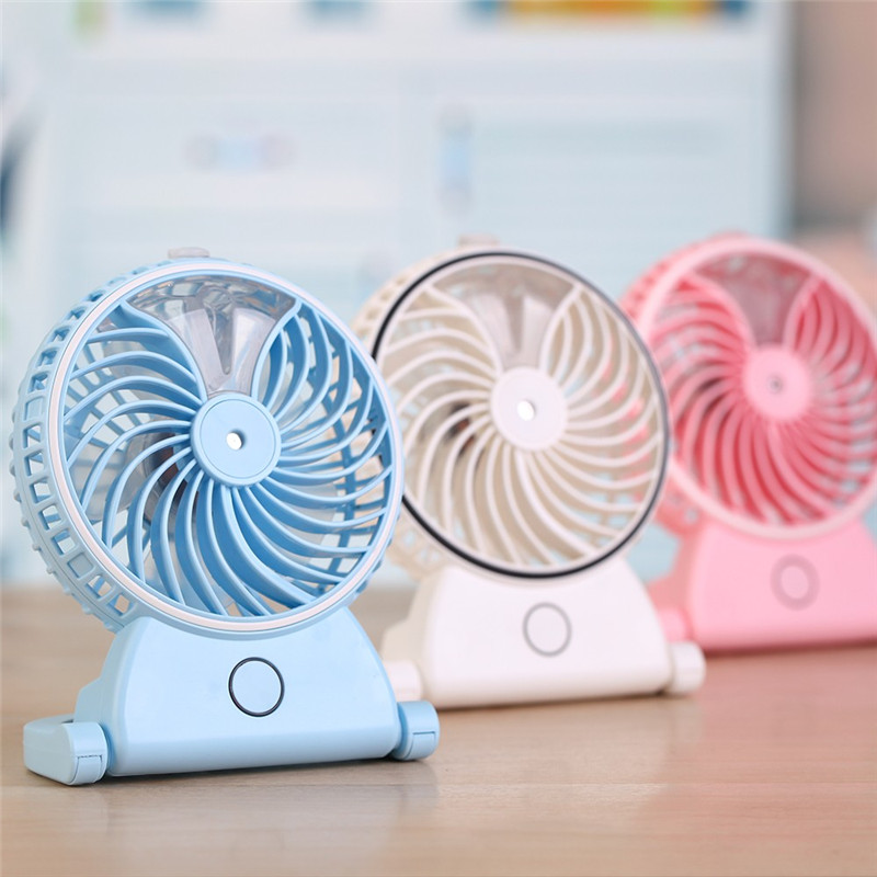 Portable Handheld Humidifier Rechargeable USB Powered Fan Office Electric Mini Fan Air Conditioning Moisturizing For Computer