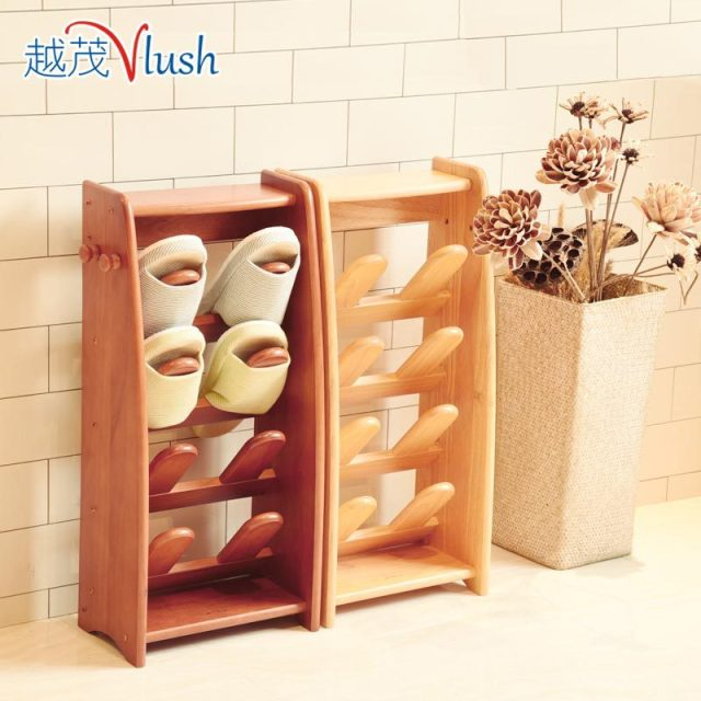 Mao More Modern Vertical Wood Shoe Rack Slippers Simple Small