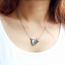 Key and Heart Lock I love you Couple Pendant Necklace