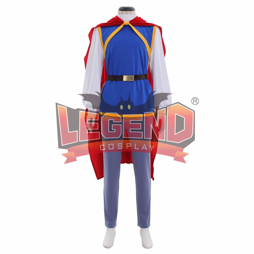 Grimms Fairy Tales Snow White Prince charming Costume Uniform Outfit Adult Mens Halloween Carnival Cosplay Costume
