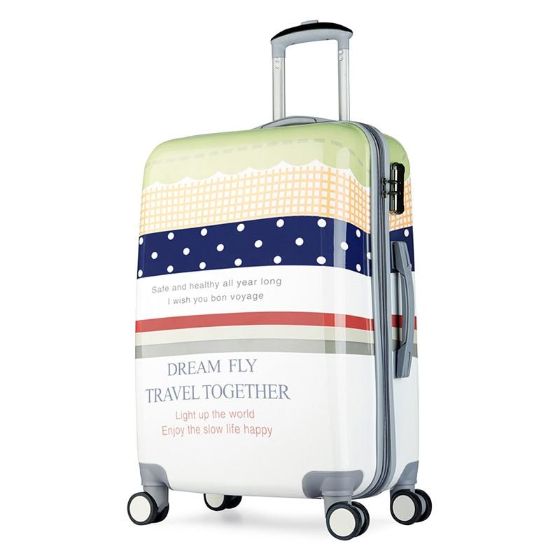 20-inch custom design rod box travel bags character printing boarding luggage box universal wheel men and women