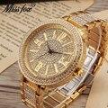 Женские кварцевые часы Miss Fox  роскошные брендовые наручные часы с большим циферблатом и алмазной мозаикой