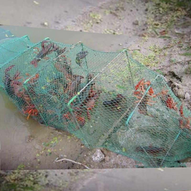 חדש 10m 33 סעיפים 20 כניסת דיג כלוב קרקע כלוב pesca דיג נטו סין לובסטר מלכודת הסרטנים מלכודת rede כלוב כדי דגים סרטן כלוב