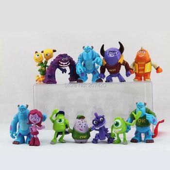 12pcs/Set 3-5cm Monsters Inc. Monsters University Mike Sully Mini PVC Action Figure Toys Dolls Gifts monstruos de monster inc