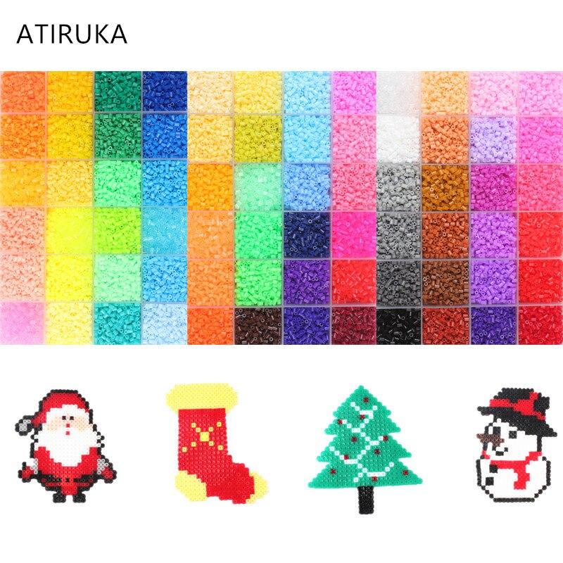 72000Pcs Set 72 Colors 2 6MM Perler Hama Beads 3D Puzzles Toys for Children Educational Toys