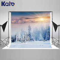 Kate Winter Photography Backdrops Christmas Snow Tree Winter Wonderland Photography Backdrop Children Photo Background