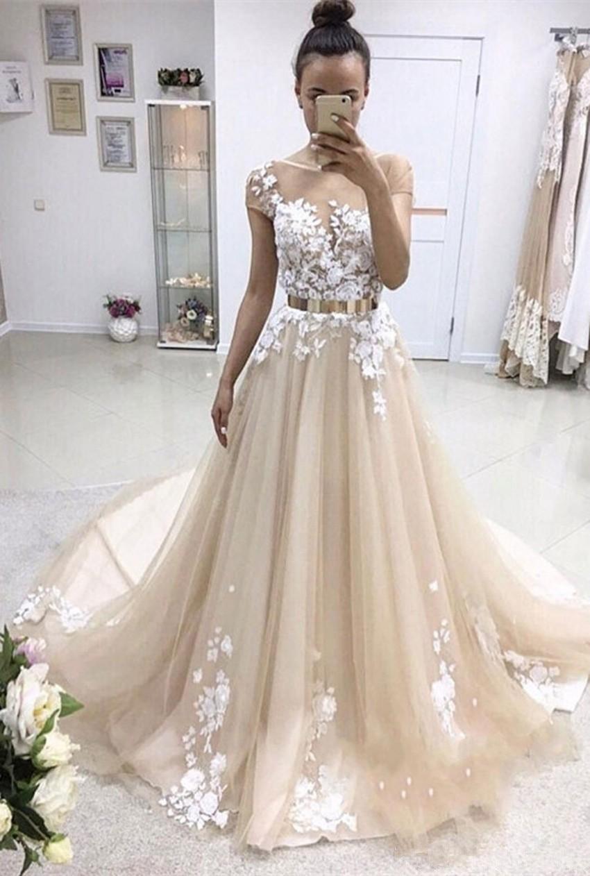 2018 नवीनतम लघु आस्तीन लंबे - विशेष अवसरों के लिए ड्रेस
