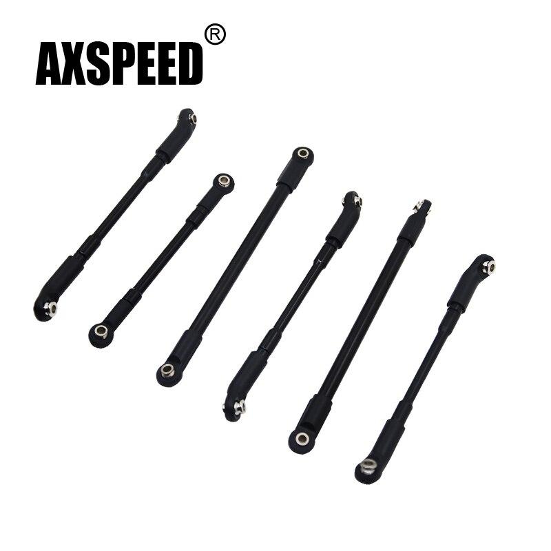 1 Unidades piezas de actualización 93mm-182mm de aleación de aluminio de la barra de acoplamiento de 1/10 RC Crawler Axial SCX10 D90 d110