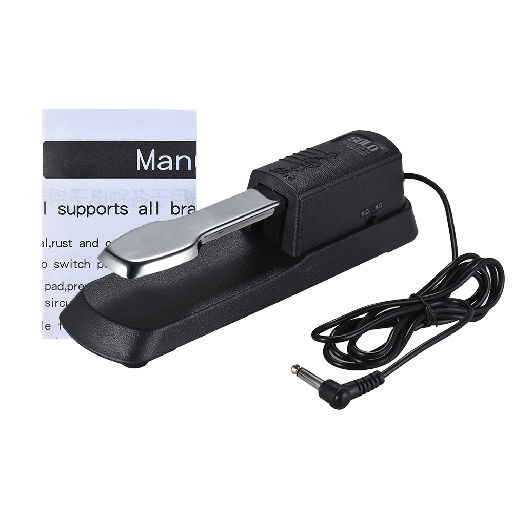 Hot Sale Universal Piano Sustain Pedal Keyboard Foot Damper Pedal with 6.35mm Plug for  Electronic Organ MIDI Keyboards