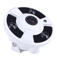 External Microphone Audio 720P/960P/1080P Optional 5MP 1.7mm Lens Fish Eye 3pcs Powerful Array Panoramic IP Camera