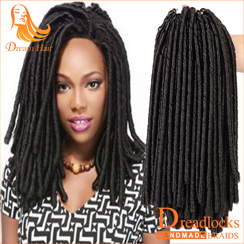 14inch Faux Locs Crochet Hair Dreadlocks Braids Havana Mambo Twist Crochet Braid Hair Soft Dread Hair Extensions Synthetic Weave