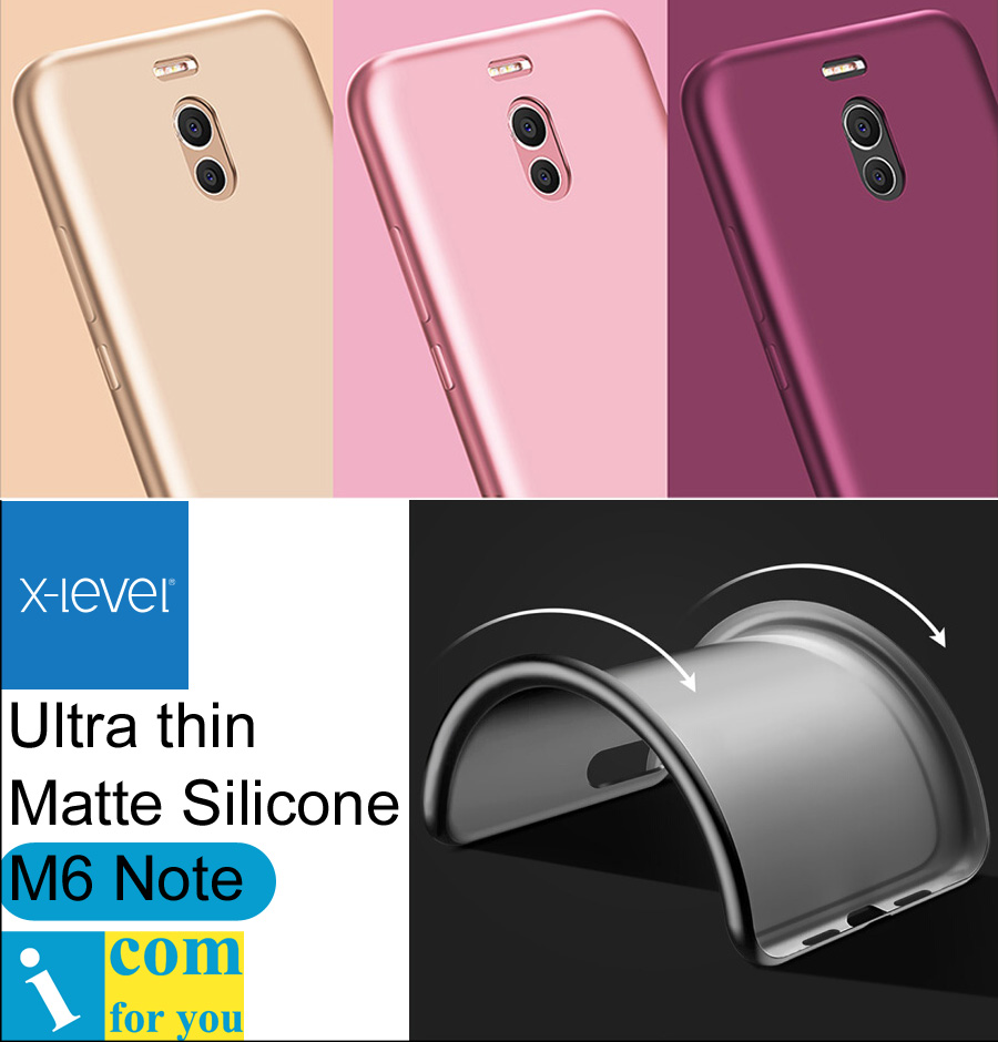 X-Level Ultra thin Silicone Cover Case For Meizu M6 Note 5.5 inch X Level Guardian Matte frosted TPU Protective