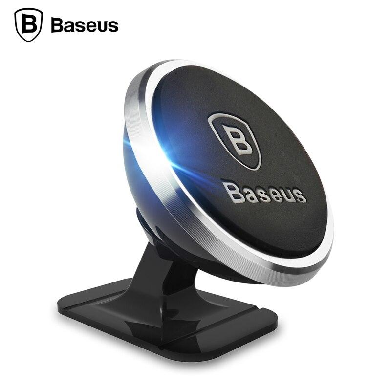 Baseus Suporte Do Telefone Do Carro Titular Do Telefone Móvel Universal 360 Rotação Magnética para o iphone 8 6 7 Samsung S8 Telefone GPS Bracket Suporte