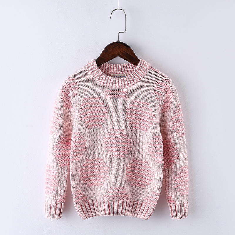Baby Boy Sweater winter o-neck Casual Knitted Circle pattern design girls sweater Cotton Pullovers newborn Children clothing