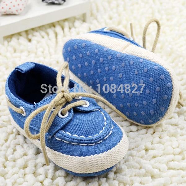 Toddler Boy Girl Miękkie Sole Crib Shoes Sznurówki Sneaker Baby - Buty dziecięce - Zdjęcie 5