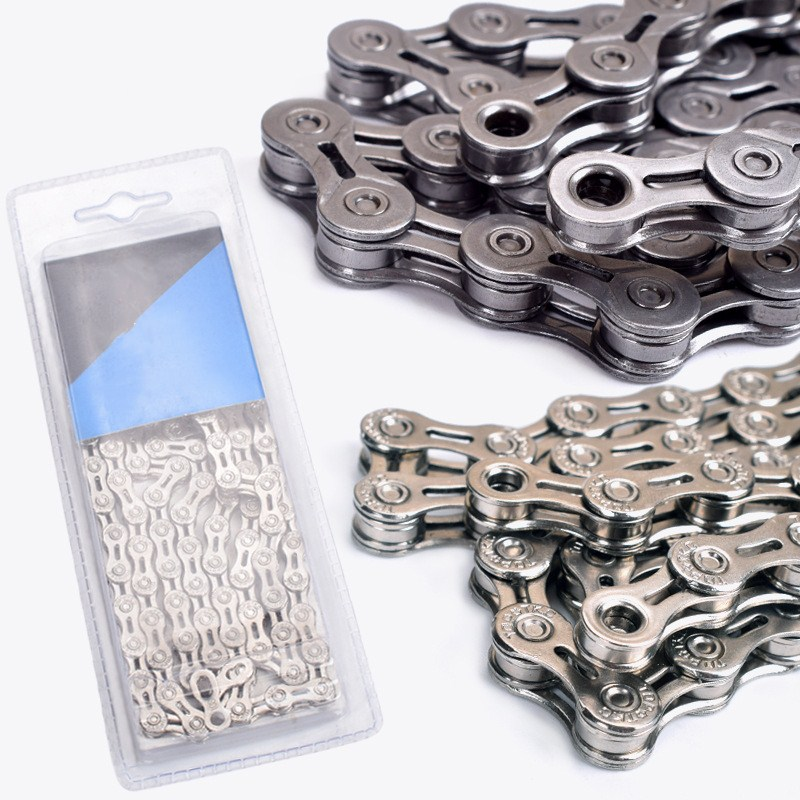 10/30 Speed Hollow 116 Link Bicycle Chain 10 Speed Mountain Bike Road Bike Chain with Original Magic Buckle Bicycle Parts