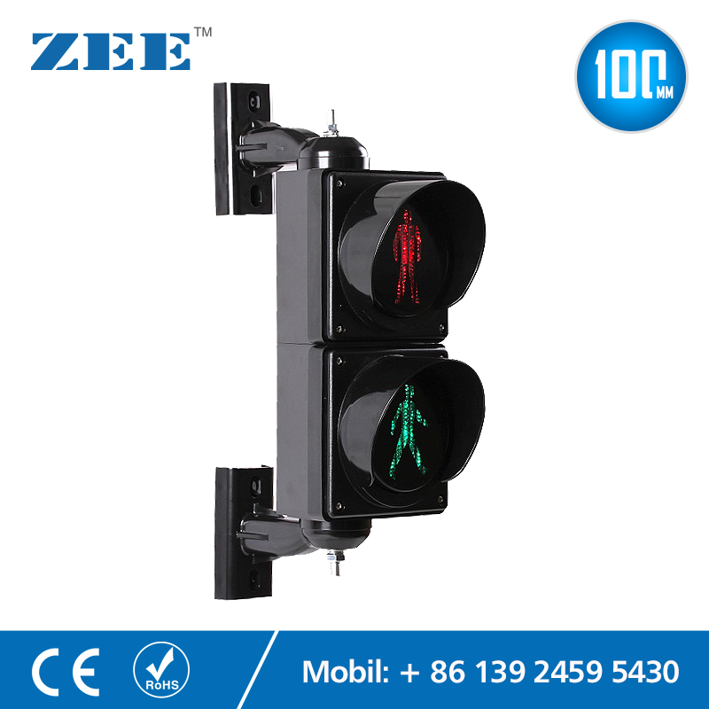 4 Inches 100mm LED Traffic Light Pedestrian Traffic Signal Light Red Green Man Signals Pedestrians Light Lamp Children Lights