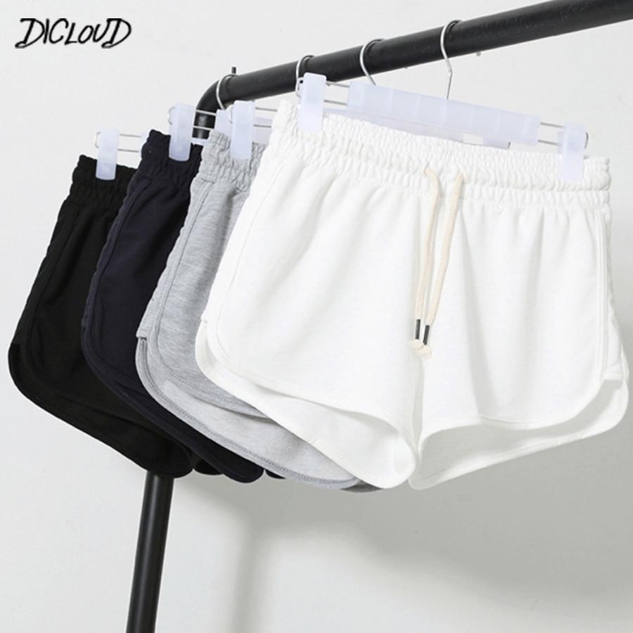 DICLOUD Summer Casual Shorts Woman 2019 Plus Size High Waist Booty Shorts Female Black White Loose Beach Sexy Short S-XXL
