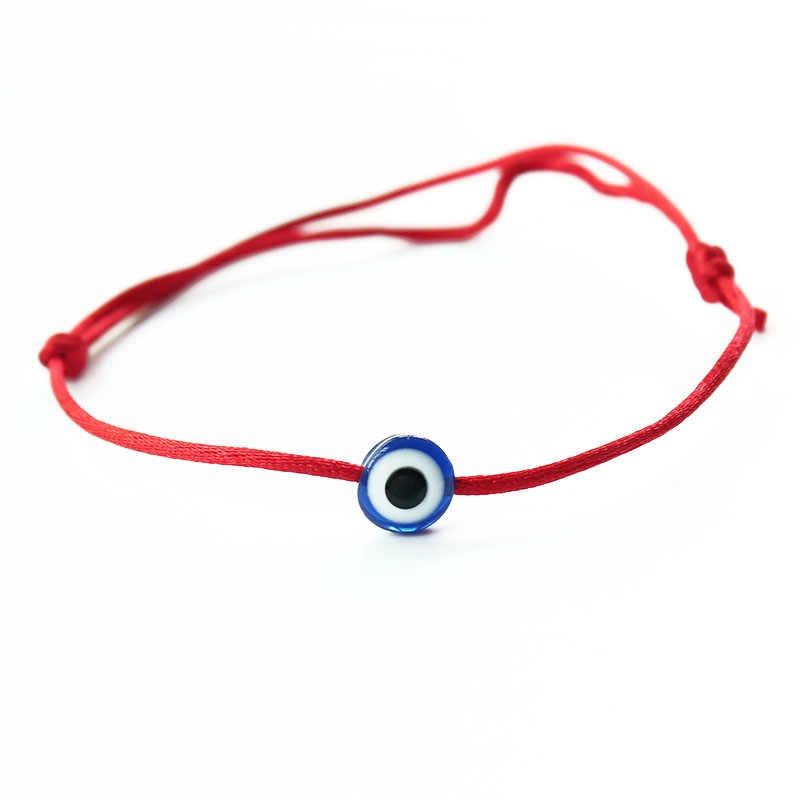 แฟชั่น Lucky ตุรกี Evil Eye Hamsa Charm Ajustable สีแดงสร้อยข้อมือผู้หญิงเชือกถักมือ Minimalist สร้อยข้อมือเครื่องประดับ