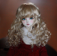 BJD doll hair wigs Pure white imitation mohair short wigs for 1/3 1/4 1/6 BJD DD MSD YOSD doll super soft hair doll accessories