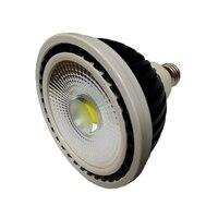 10pcs black 25w cob Par38 LED Bulbs e27 e26 Par38 SpotLight track light rail light source Cool White/Warm White 110V 220v